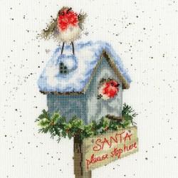 Kit point compté  Père Noël  s'il te plaît arrête ici XHD55  Bothy Threads