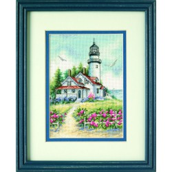 Dimensions | kit  broderie  point de croix  compté  Phare pittoresque | Dimensions  D65057 | Broderie du monde