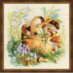 Riolis  kit Mushroom Basket | Riolis  1363 | Broderie du monde