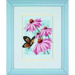 Papillon  et  fleurs  Dimensions  65046