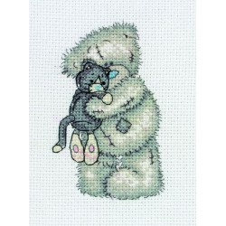 Anchor | kit  broderie  point de croix  compté  Me to you  Cuddly Cat | Anchor  TT39 | Broderie du monde