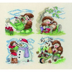 Anchor   kit broderie point de croix compté Country Companions The Seasons    Anchor CTM0018   1e9d2a126b8