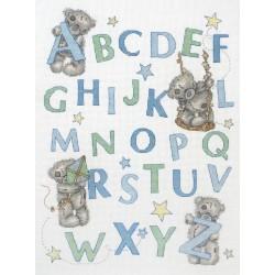 Anchor | kit  broderie  point de croix  compté  Me to you  Learn the alphabet for Boys | Anchor  TT224 | Broderie du monde