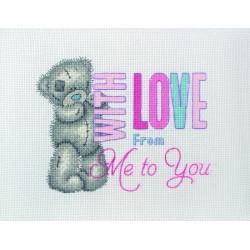Anchor | kit  broderie  point de croix  compté  Me to you  With Love | Anchor  TT229 | Broderie du monde