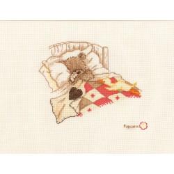 Vervaco | kit  broderie  point de croix  compté  Popcorn  Cuddle up | Vervaco  0011190 | Broderiedumonde