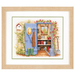Vervaco | kit  broderie  point de croix  compté  Mon abri de jardin | Vervaco  0146451 | Broderie du monde