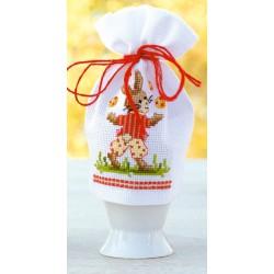 Vervaco | kit  broderie  point de croix  compté  Cache-œuf  Lapin de Pâques | Vervaco  0144388 | Broderiedumonde