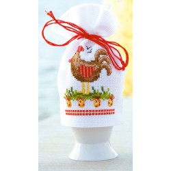 Vervaco | kit  broderie  point de croix  compté  Cache-œuf  Poulet de Pâques | Vervaco  0144487 | Broderiedumonde