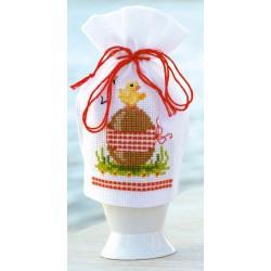 Vervaco | kit  broderie  point de croix  compté  Cache-œuf  œuf de Pâques | Vervaco  0144373 | Broderiedumonde