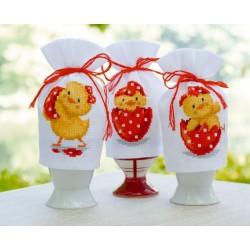 Vervaco | kit  broderie  point de croix  compté  Cache-œufs  Joyeuses Pâques | Vervaco  0147927 | Broderiedumonde