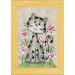 Miniatures  Chats  dans  les  fleurs  0147743  Vervaco
