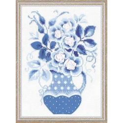 Riolis  kit Winter Roses | Riolis  1365 | Broderie du monde