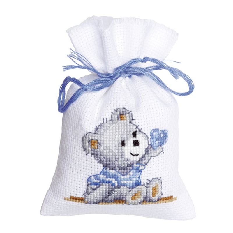 Vervaco kit point de croix compt sachet nounours for Salon de la broderie