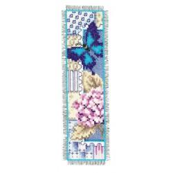 Marque-page  Hortensia  et  papillon  0145090  Vervaco