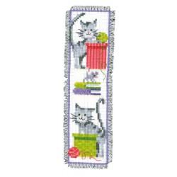 Vervaco | kit  broderie  point de croix  compté  Marque-page  Chats curieux | Vervaco  0143915 | Broderie du monde