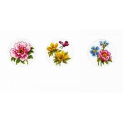 Vervaco | kit  broderie  point de croix  compté  Cartes de vœux  Fleurs printanières | Vervaco  0149797 | Broderie du monde