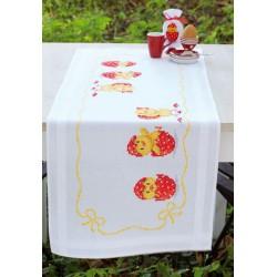 Vervaco | kit  Chemin de table  Joyeuses Pâques | Vervaco  0149361 | Broderie du monde