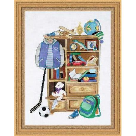 Riolis  kit Boy's Locker | Riolis  1372 | Broderie du monde