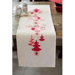 Vervaco | kit  Chemin de table  Décorations de Noël | Vervaco  0144712 | Broderie du monde