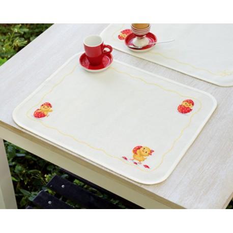 Vervaco | kit  point de croix  Sets de table  Joyeuses Pâques | Vervaco  0150024 | Broderie du monde