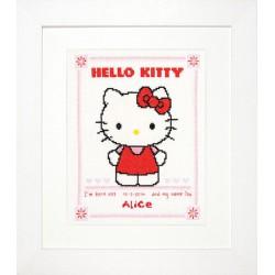 Vervaco | kit  broderie  point de croix  compté  Tableau de naissance  Hello Kitty | Vervaco  0147578 | Broderie du monde