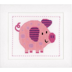 Vervaco,  kit  Gai petit cochon  0148256