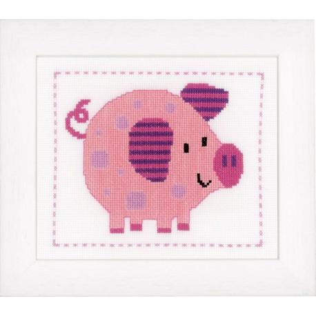 Vervaco,  kit  Gai petit cochon