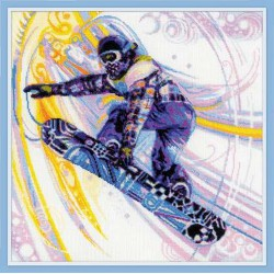 Riolis  kit Snowboarder | Riolis  1414 | Broderie du monde