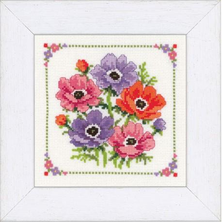 Vervaco,  kit  Bouquet  d'anémones