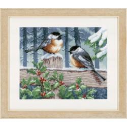 Vervaco,  kit  Les  oiseaux  en  hiver