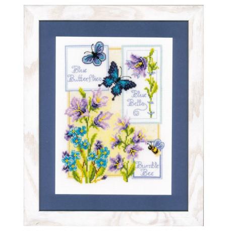 Vervaco,  kit  Papillons  bleus  et  Campanules
