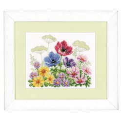 Vervaco,  kit  Champs  de  fleurs  avec  coquelicots  0143721