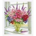 Vervaco,  kit  Vase  de  Sweet Williams
