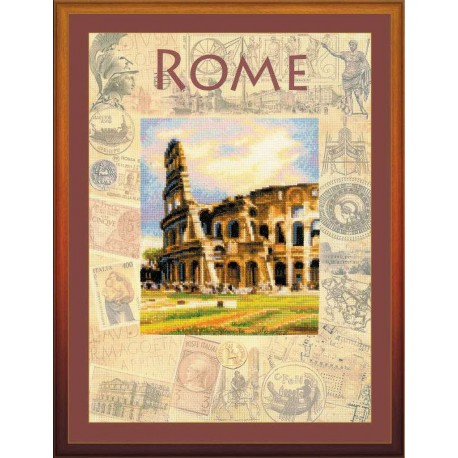 Riolis  kit Cities of the World, Rome | Riolis  PT0026 | Broderie du monde