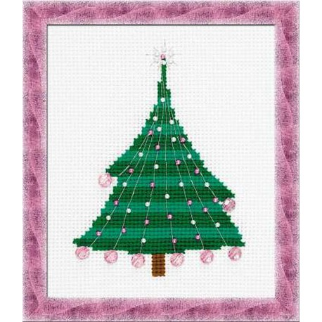 Riolis  kit Christmas Tree with Crystal Balls | Riolis  1352 | Broderie du monde