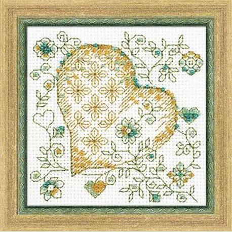 Riolis  kit Golden Heart | Riolis  1353 | Broderie du monde