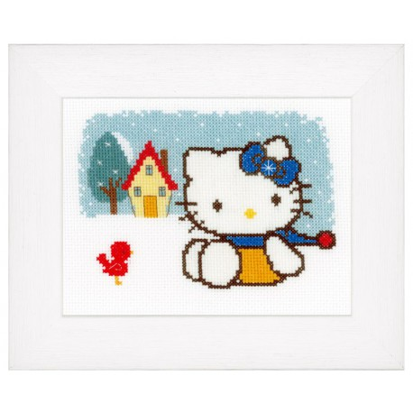 Vervaco,  kit  Hiver  Hello Kitty
