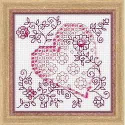 Riolis  kit Tender Heart | Riolis  1354 | Broderie du monde