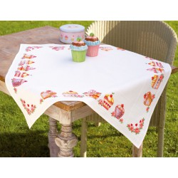Vervaco,  kit  Nappe  Cupcakes