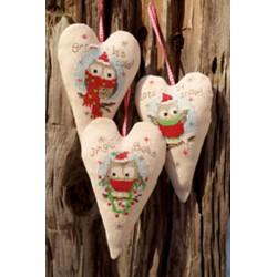 Vervaco,  kit  Chouettes  de  Noël