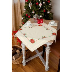 Vervaco,  kit  Nappe  de  table  Poinsettias