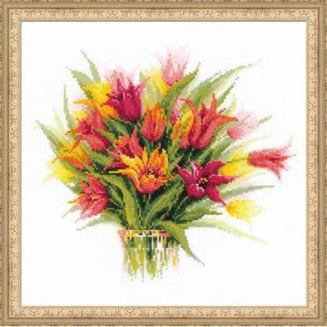 Riolis  kit TulipsinaVase | Riolis  1293 | Broderie du monde