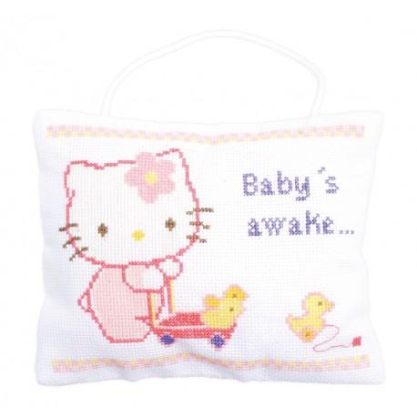 Vervaco,  kit  Hello Kitty  dort  ou est  réveillé