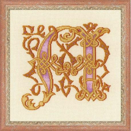 Riolis  kit Letter M   Riolis  1292   Broderie du monde