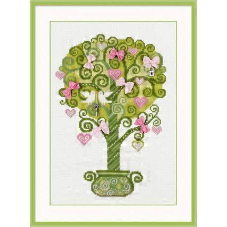 Riolis  kit Tree of Happiness | Riolis  1295 | Broderie du monde