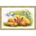 Kit point de croix  Funny Ducklings 1322  Riolis