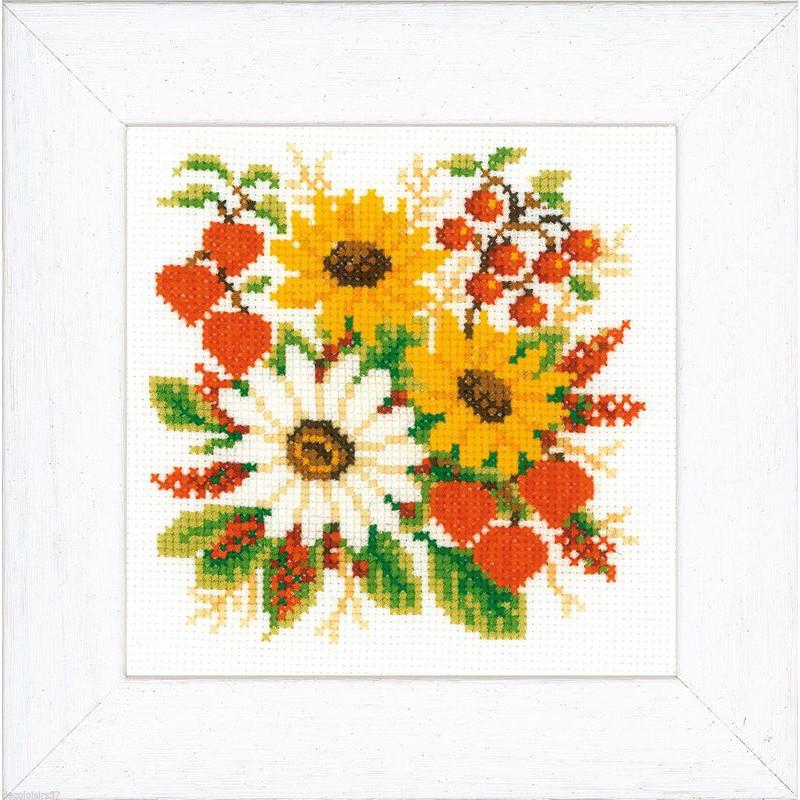 Vervaco kit broderie point de croix compt bouquet de tournesol vervaco 0011908 boutique - Bouquet de tournesol ...