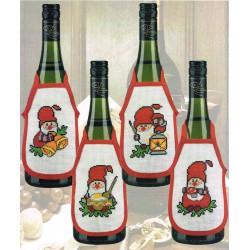 Permin,  Kit  Tabliers  de  Bouteille  Noël