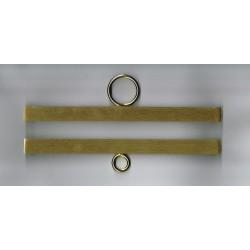 Permin,  Supports  de  Broderie  en  métal  doré  14 cm