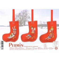 Permin,  kit  Chaussette  de  Noël  Les  Anges